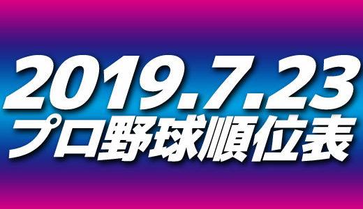 プロ野球試合結果&順位表2019.7.23