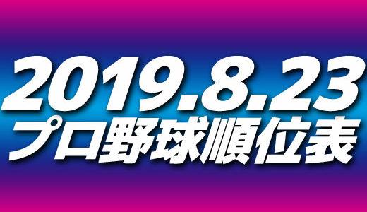 プロ野球試合結果&順位表2019.8.23